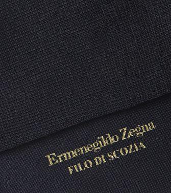 ERMENEGILDO ZEGNA: Chaussettes Bleu foncé - 48152182VS