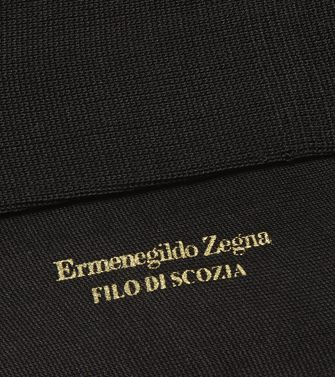 ERMENEGILDO ZEGNA: Socks Black - 48152183DM