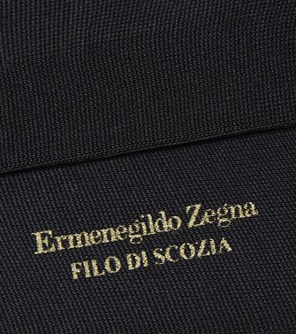 ERMENEGILDO ZEGNA: Socks Blue - 48152185BB