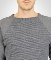 New Light Grey Melange Organic Cotton Wool Jersey Sweater