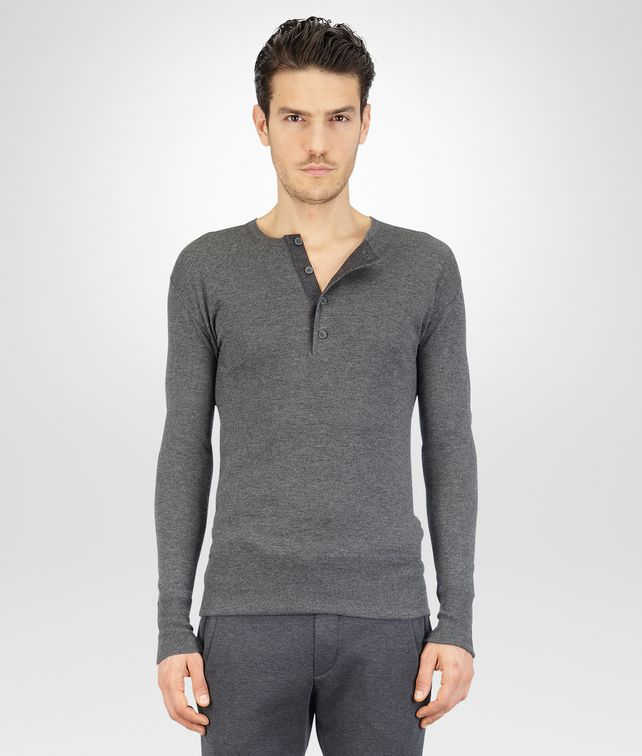 Medium Grey Melange Summer Cashmere Flannel Sweater