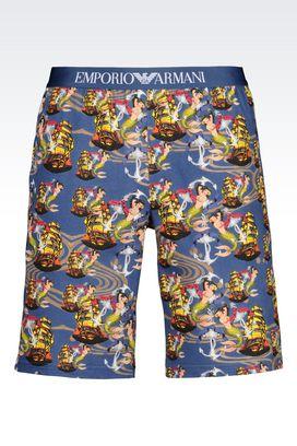 Armani Loungewear Pants Men stretch cotton shorts