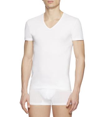 ERMENEGILDO ZEGNA: V-Neck T-Shirt  - 48168336QG