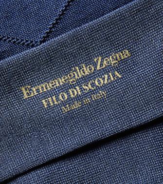 ERMENEGILDO ZEGNA: Calcetines Azul francés - 48168702AF