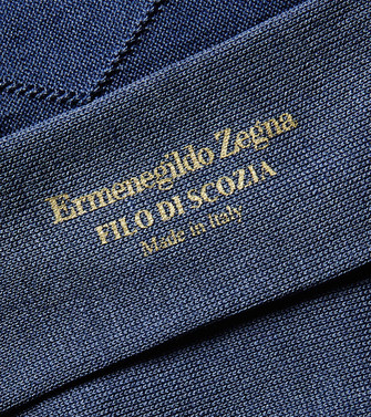 ERMENEGILDO ZEGNA: Socks Slate blue - 48168702AF