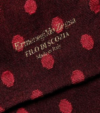 ERMENEGILDO ZEGNA: Socks Maroon - 48168888DE