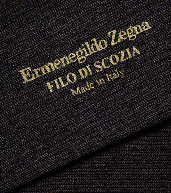 ERMENEGILDO ZEGNA: Socks Steel grey - 48170668ID