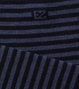 ERMENEGILDO ZEGNA: Socks Slate blue - 48170677DB