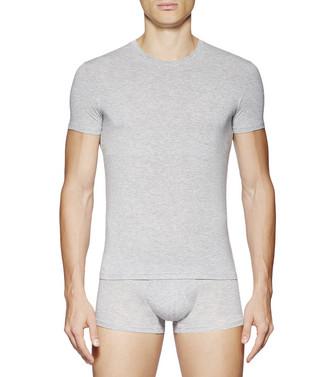 ERMENEGILDO ZEGNA: T-Shirt mit Rundkragen Grau - 48170719UT