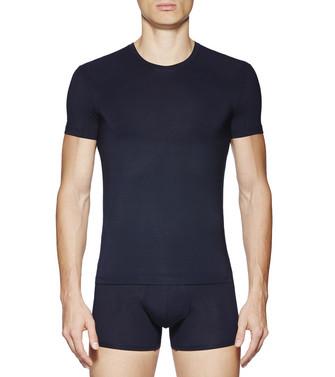 ERMENEGILDO ZEGNA: Camiseta Cuello Redondo Negro - 48170722DN