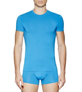 ERMENEGILDO ZEGNA: Crewneck T-Shirt Azure - 48170723TX