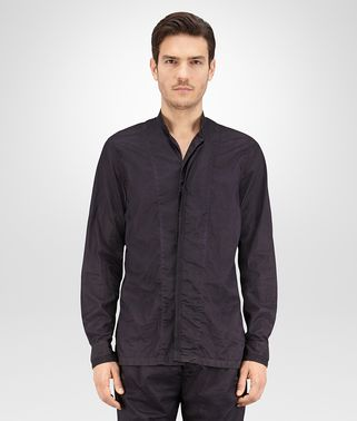 SHIRT IN DARK NAVY POPELINE COTTON
