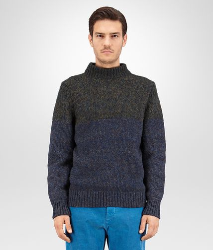 SWEATER IN DARK PACIFIC DARK SERGEANT MERINOS WOOL
