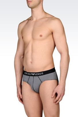 Armani Sets of two briefs Men set of two stretch cotton slips