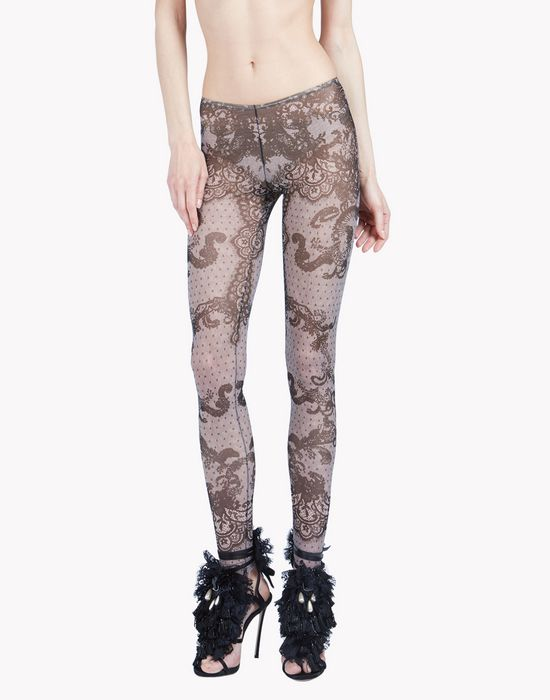 lace tattoo leggings ropa interior Mujer Dsquared2