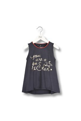 Armani T-Shirt Women modal jersey tank top with glossy lettering