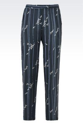 Armani Pantaloni Intimo Donna pantaloni in viscosa