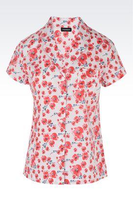 Armani Pigiami Donna camicia in puro cotone