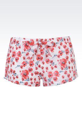 Armani Pigiami Donna shorts in puro cotone