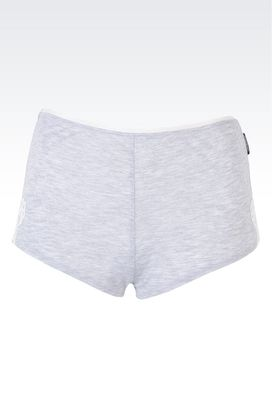 Armani Pantaloni Intimo Donna shorts con dettagli macramè