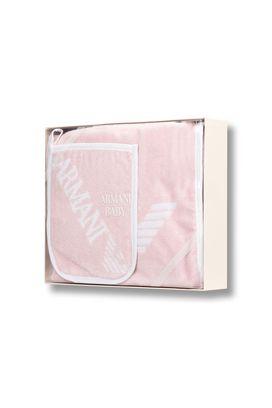 Armani Gift sets Women 100% cotton hooded bathrobe and mitt set