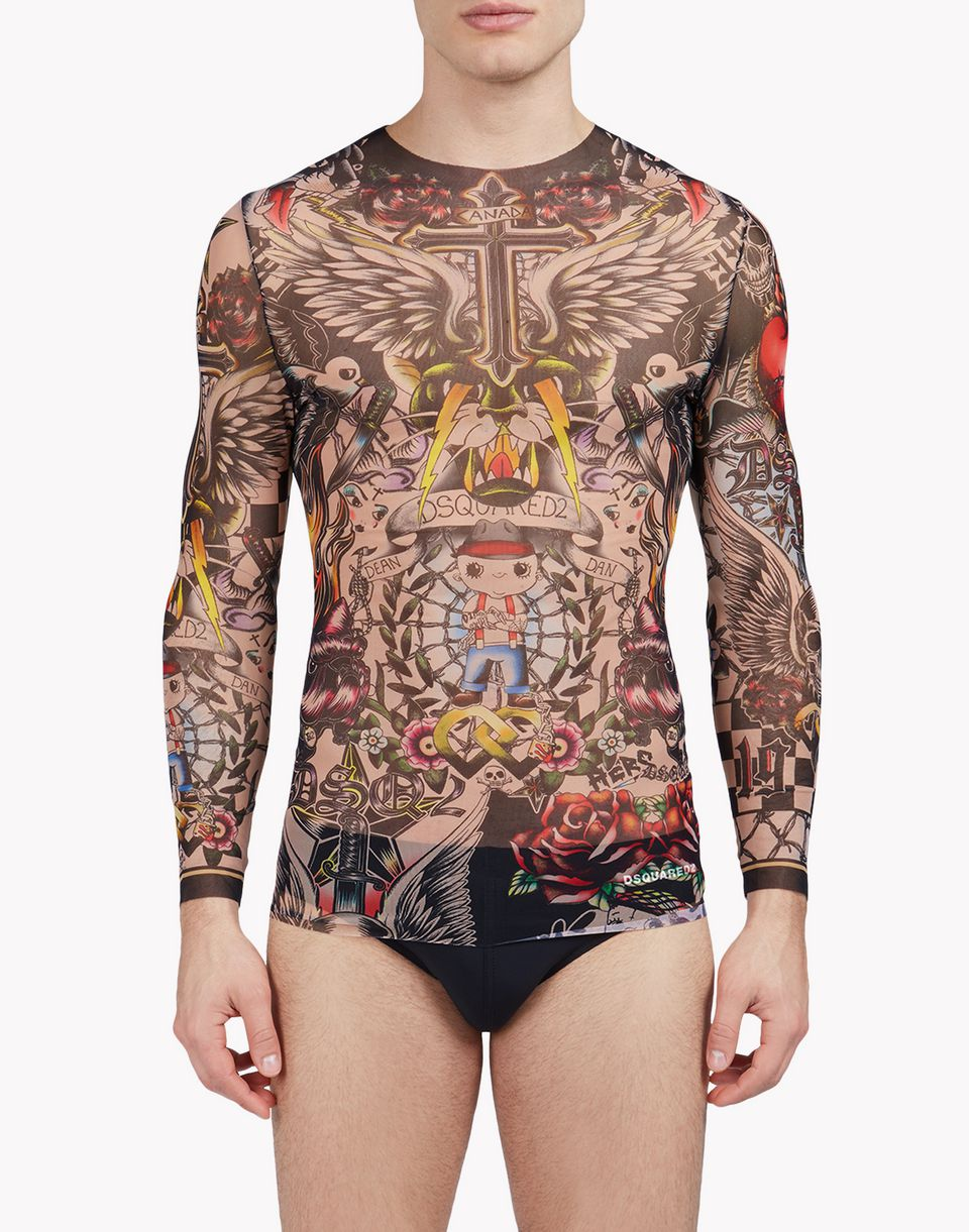 tattoo long sleeve underwear Herren Dsquared2