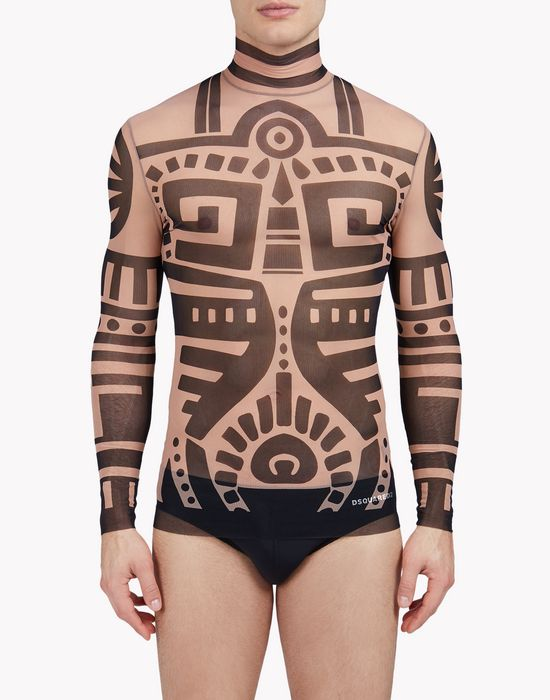 tattoo long sleeve ropa interior Hombre Dsquared2