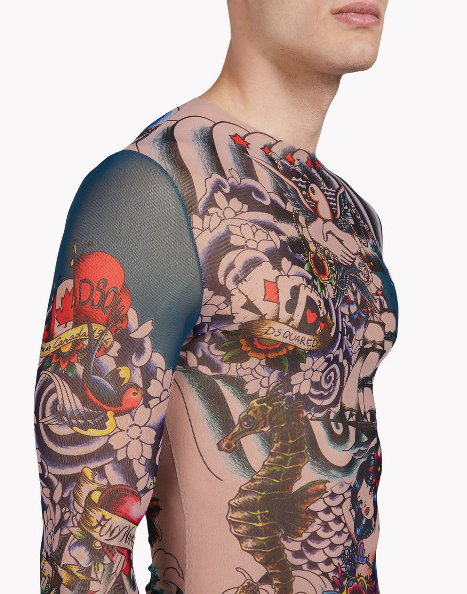 tattoo long sleeve underwear Man Dsquared2