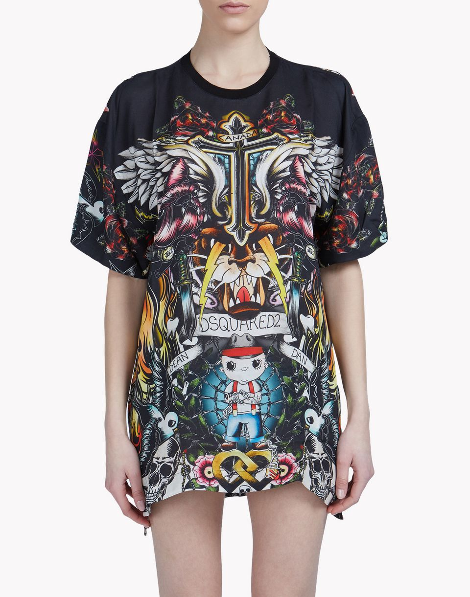 tattoo cover up  beachwear Woman Dsquared2