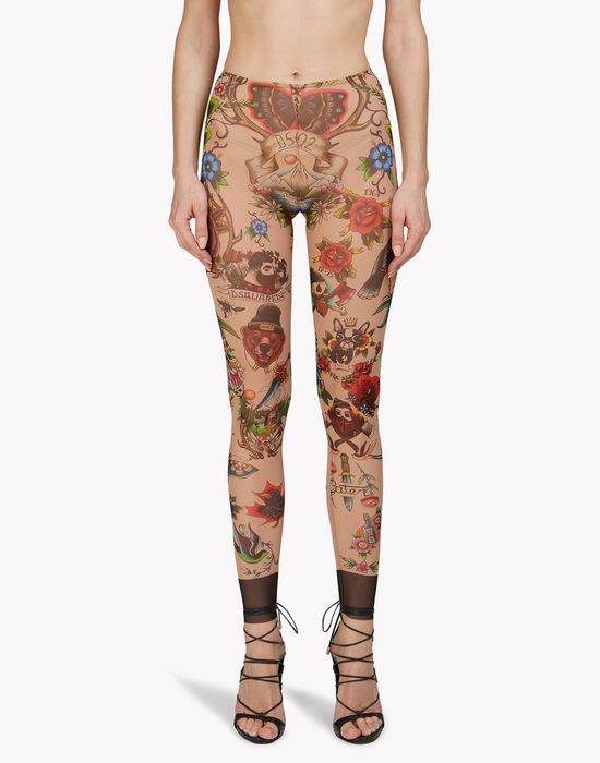 tattoo leggings lingerie Femme Dsquared2