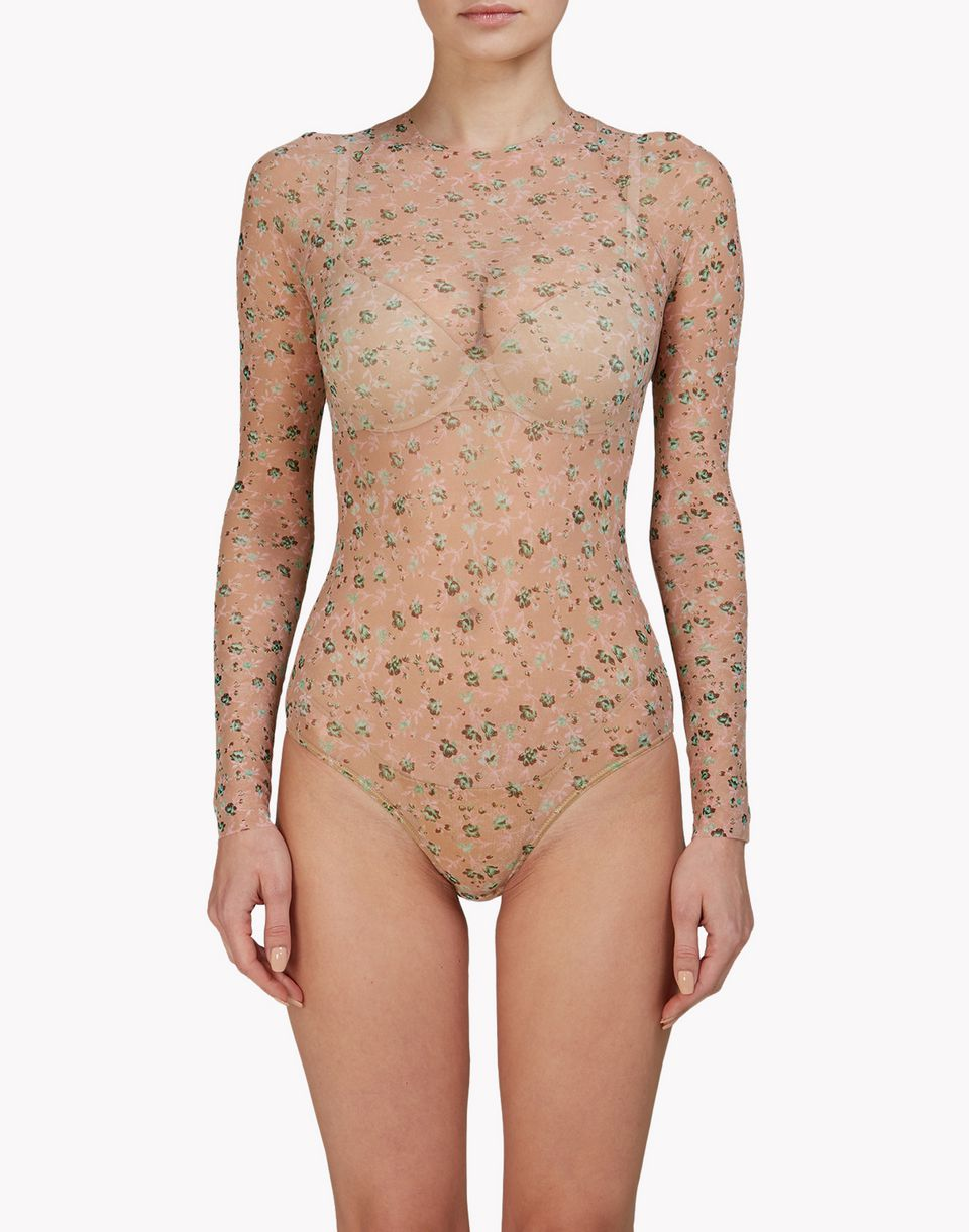 floral bodysuit underwear Damen Dsquared2