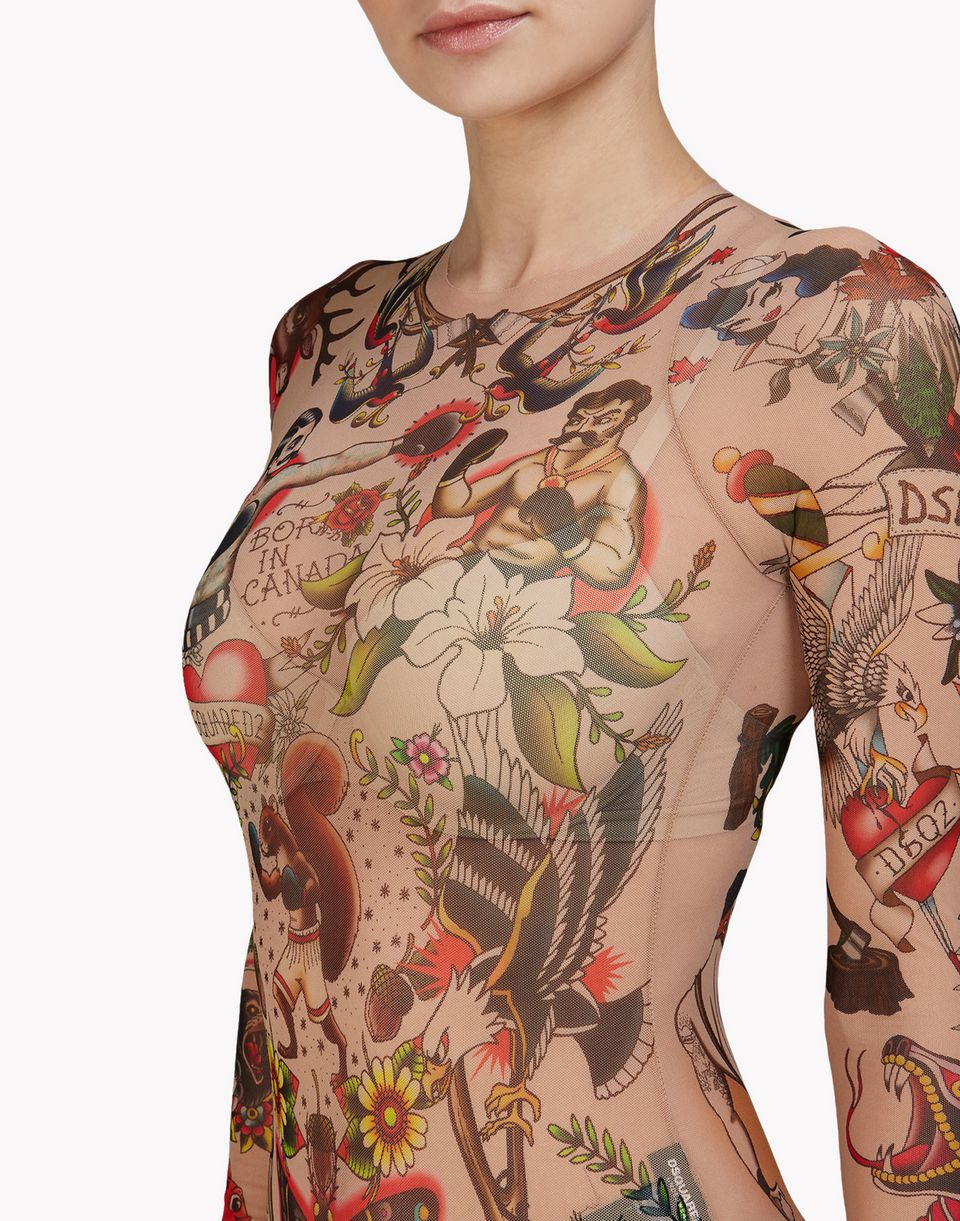 tattoo bodysuit underwear Woman Dsquared2