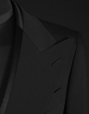 Satin and Wool Voile Blazer - Blazers - Dolce&Gabbana - Summer 2016