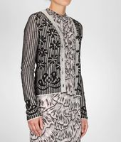 Jacquard Cotton Cardigan