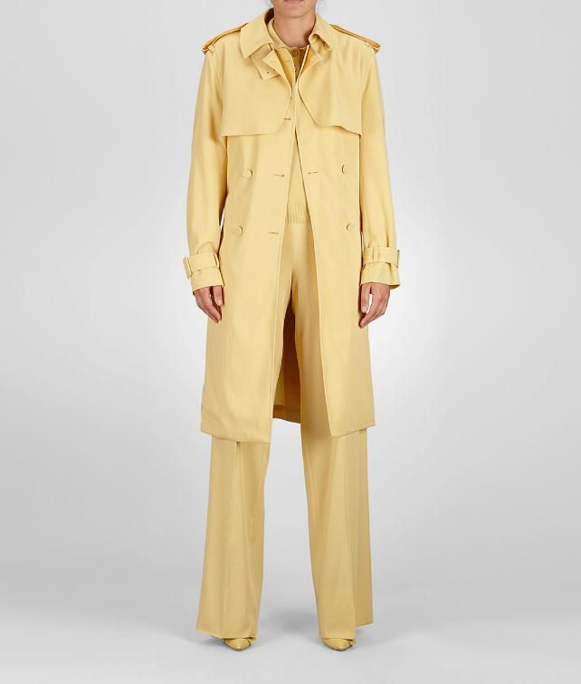 Fluid Light Wool Gabardine Trench
