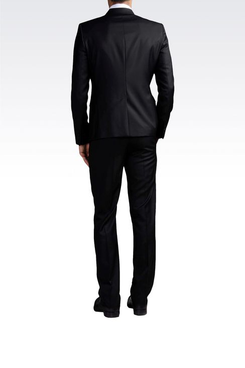 ONE-BUTTON SUIT IN COMBED VIRGIN WOOL: One button suits Men by Armani - 3