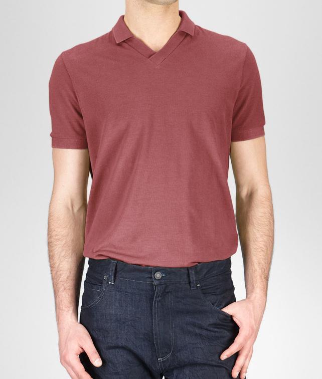 BOTTEGA VENETA Cotton Piqué Polo Shirt Tops, tees and shirts U fp