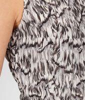 Studded Trompe L'Oeil Silk Printed Dress
