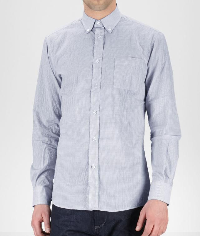 BOTTEGA VENETA Micro Grid Shirt Tops, tees and shirts U fp