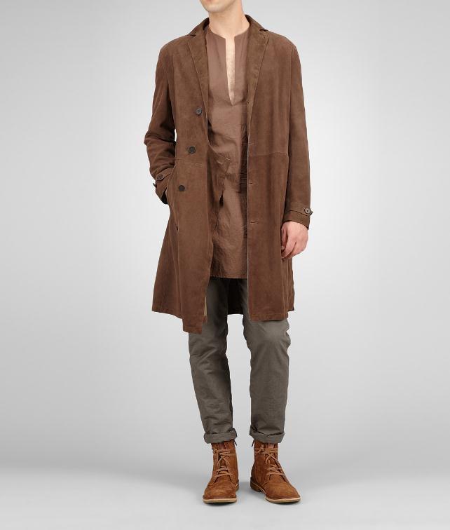 BOTTEGA VENETA Reindeer Suede Coat Coat or Jacket U fp