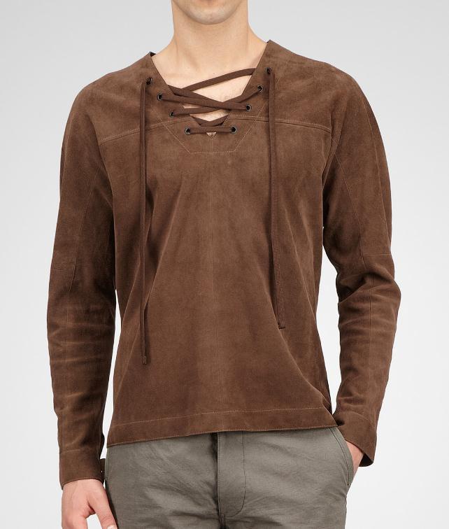 BOTTEGA VENETA Reindeer Suede Shirt Tops, tees and shirts U fp