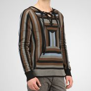 Striped Crepe Cotton Shirt - Top or Sweater - BOTTEGA VENETA - PE13 - 885