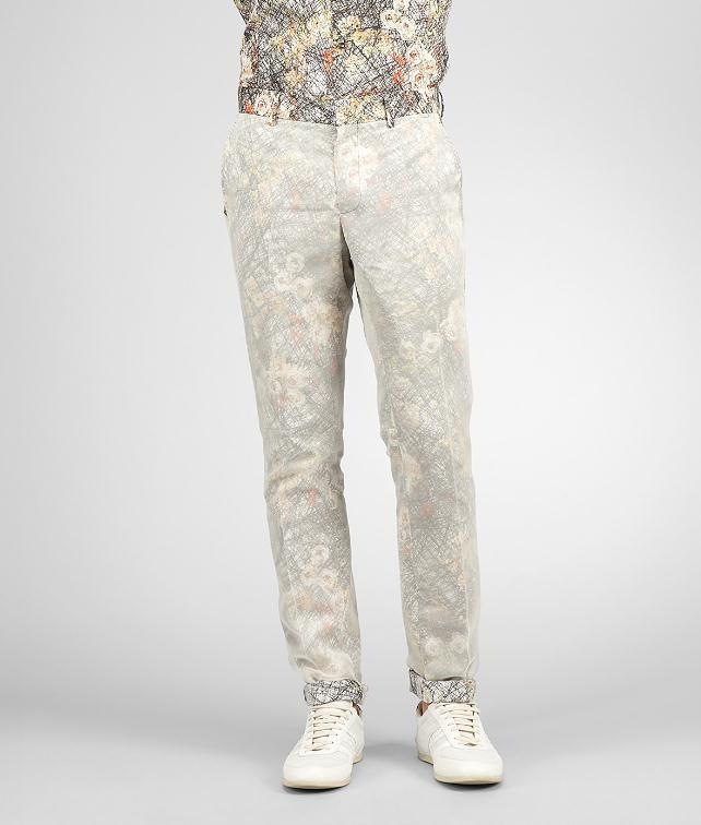 BOTTEGA VENETA Floral Print Cotton Organza Pant Trouser or jeans U fp