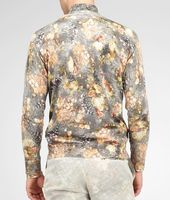 Floral Print Silk Sweater