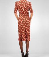 Silk Embroidered Studded Marguerite Print Dress