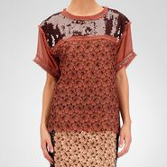 Silk Ayers Sequin Perforated Flower Top -  - BOTTEGA VENETA - PE13 - 2080