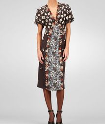 Silk Embroidered Marguerite Print Dress - BOTTEGA VENETA