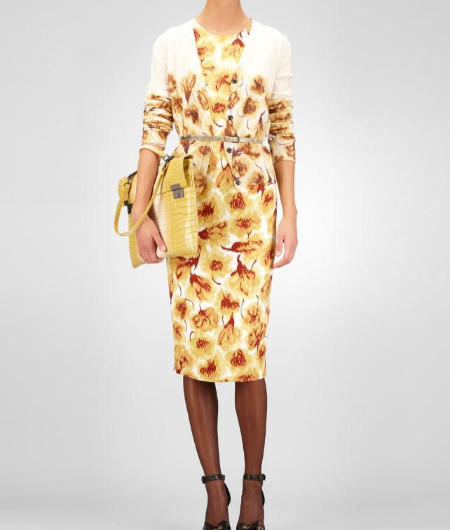 Crepe Tulip Print Dress
