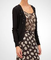 Embroidered Perforated Sweater