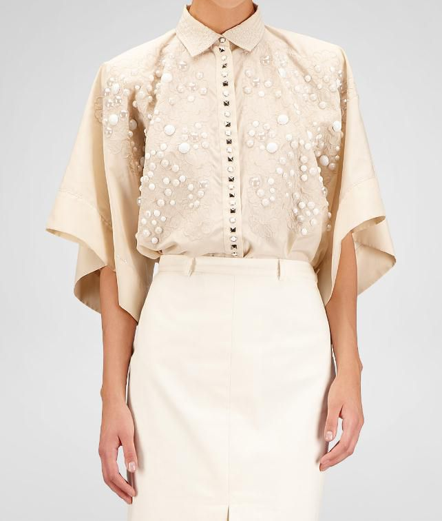 BOTTEGA VENETA Polyester Embroidered Shirt Sweater and top D fp